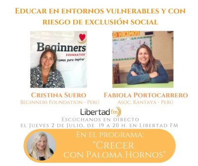 Educar en entornos vulnerables...